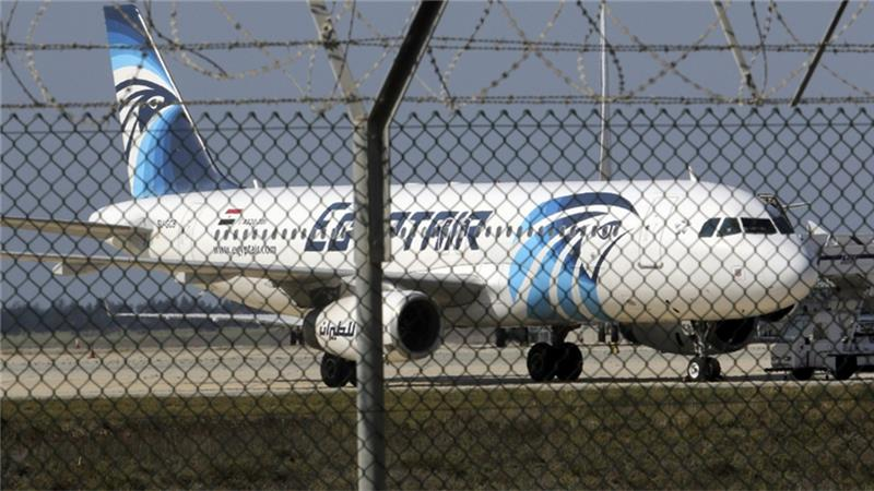 The hijacked EgyptAir jet was parked at a secure area at Larnaca airport in Cyprus [Yiannis Kourtoglou/Reuters]