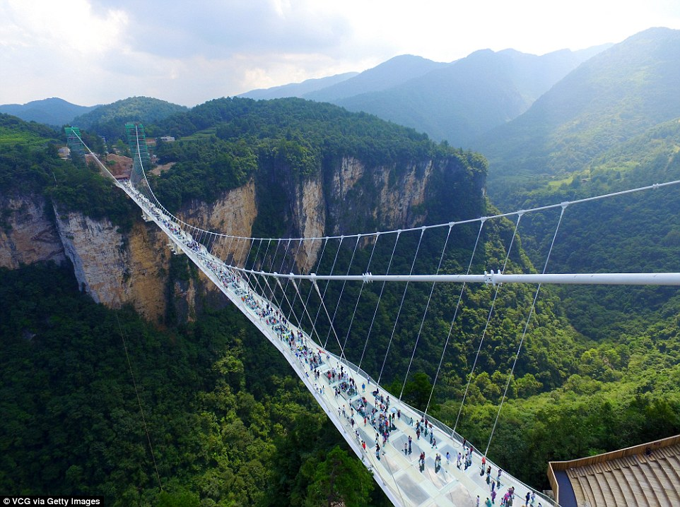 World's longest and highest glass bridge
